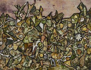 Jardin de souffle cor  avril 1956 by Jean Dubuffet contemporary artwork