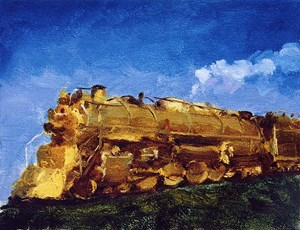 Train 火車 by Qi Xing contemporary artwork