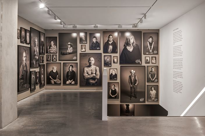 Exhibition view: Shirin Neshat, Land of Dreams, Goodman Gallery, London (20 February–28 March 2020). Courtesy Goodman Gallery.