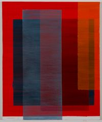 Intersection (red, blue, orange) II by Tanya Goel contemporary artwork painting