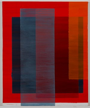 Intersection (red, blue, orange) II by Tanya Goel contemporary artwork