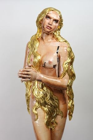Gilded Hair by Osang Gwon contemporary artwork