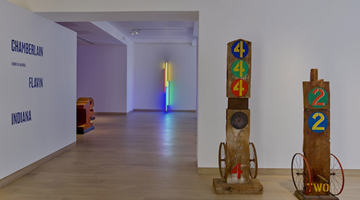 Contemporary art exhibition, Group Exhibition, Found in America: Chamberlain, Flavin, Indiana at Waddington Custot, London