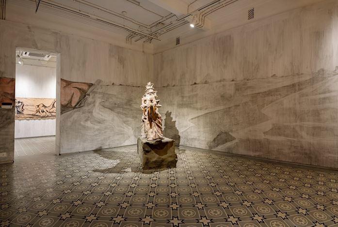 Exhibition view: Prabhakar Pachpute, Beneath the Palpable, Experimenter,Kolkata (22 January–4 April 2020). CourtesyExperimenter.