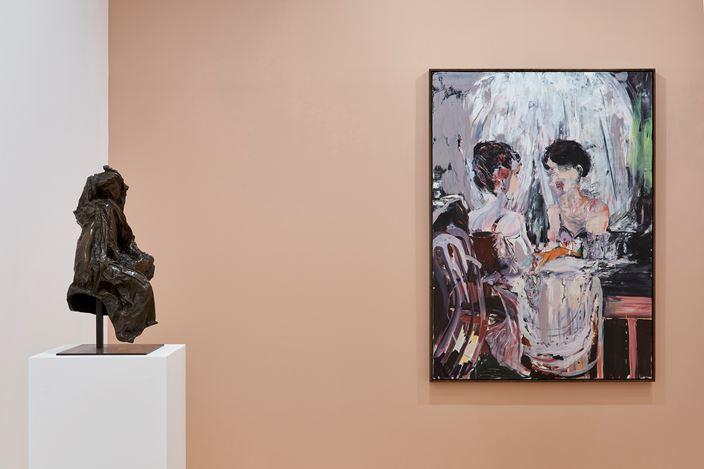 Exhibition view: Group Exhibition,Bustes de Femmes, Paris 10th Anniversary Exhibition, Gagosian, Paris (10 October–19 December 2020). © Musée Rodin. © Cecily Brown. Courtesy Gagosian. Photo: Thomas Lannes.