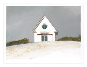 Betsy's Studio on a Gray Day by Bo Bartlett contemporary artwork