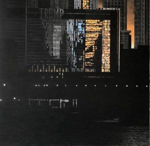 芝加哥的夕陽 by Wong Hau Kwei  contemporary artwork