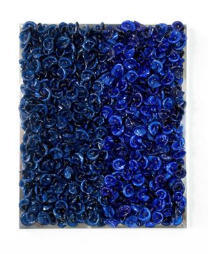 Blue on Blue (Dark) by Dani Marti contemporary artwork