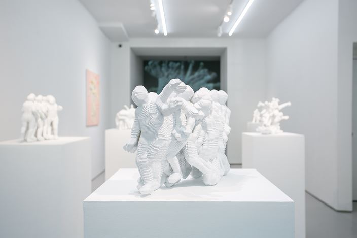Exhibition view: Miao Xiaochun, Gyro Dance, Eli Klein Gallery, New York (25 May–26 July 2019). Courtesy Eli Klein Gallery.