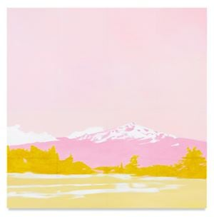 Pink Mountain by Isca Greenfield-Sanders contemporary artwork