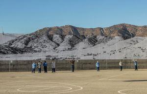 Tehachapi, Mountain, February 7, 2020, 10:10a.m., U.S.A. by JR contemporary artwork