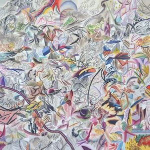 미소년 노인의 금빛 드로잉 일기 by Woo Tae Kyung contemporary artwork painting, works on paper
