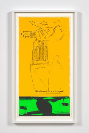 green fingers by Corita Kent contemporary artwork