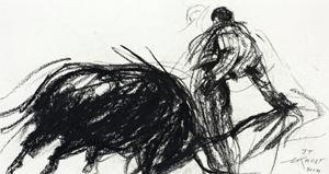 José Tomás 7 by Ernest Pignon-Ernest contemporary artwork