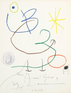 Ubu Roi by Joan Miró contemporary artwork