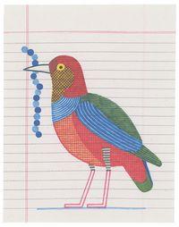 199 - Brève à ventre rouge by Jochen Gerner contemporary artwork works on paper, drawing