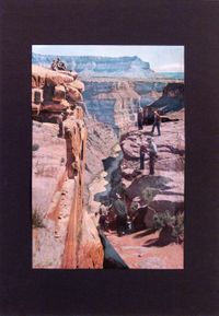 Western Scene #1 by Barry Gerson contemporary artwork mixed media