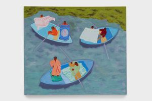Floating Salesmen by March Avery contemporary artwork