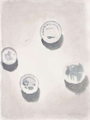 Porcelain by Luc Tuymans contemporary artwork