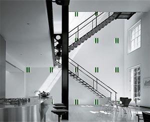 Twenty-five Enamel Plates by Daniel Buren contemporary artwork