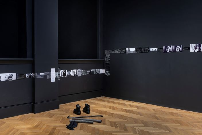 Exhibition view: Acconci Studio, FAULT-LINE-ON-5, Pace Gallery, London (27 August–14 September 2019). Courtesy Pace Gallery.