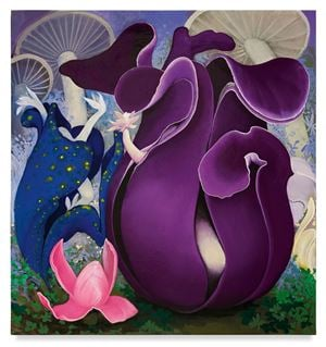 Purple Pods by Inka Essenhigh contemporary artwork
