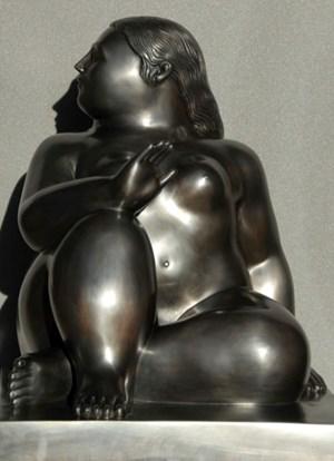 Donna Seduta by Fernando Botero contemporary artwork