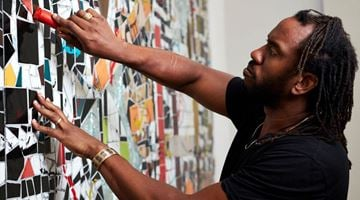 Contemporary art exhibition, Rashid Johnson, Waves at Hauser & Wirth, London
