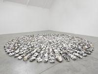 Flint Wheel by Richard Long contemporary artwork sculpture