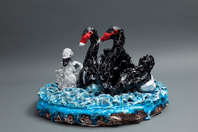 Swans 1 by Peter Cooley contemporary artwork