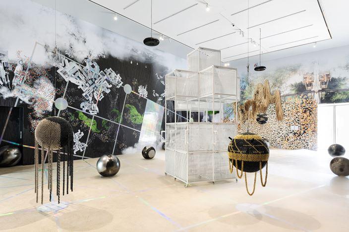 Exhibition view: Haegue Yang, When The Year 2000 Comes, Kukje Gallery, Seoul (3 September–17 November 2019).Courtesy Kukje Gallery.Photo: Chunho An.