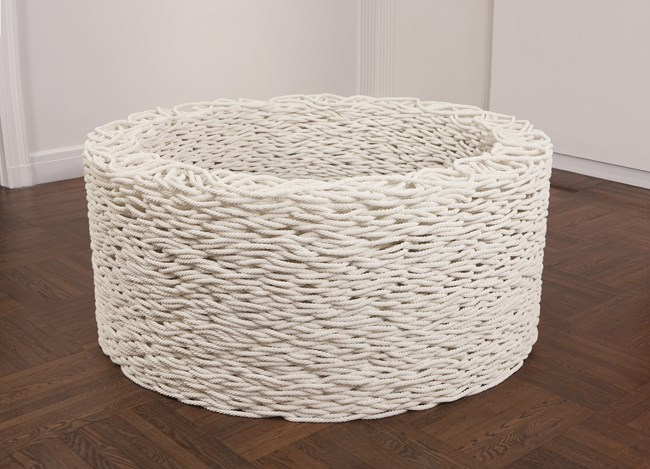 Continuous Mile (white) by Liza Lou contemporary artwork