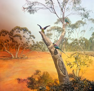 The Mallee, near Beneetook in Sunraysia Region of Victoria by Anne Zahalka contemporary artwork