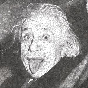 Hystorical Portraits – vol. 6 Albert Einstein by Keita Sagaki contemporary artwork