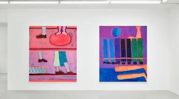 Contemporary art exhibition, Katherine Bradford, Legs and Stripes at Campoli Presti, London