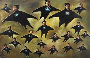 Flying Angels II by Heri Dono contemporary artwork