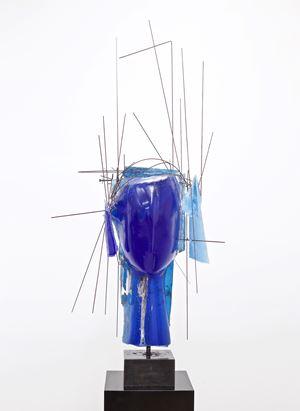 Cabeza azul by Manolo Valdés contemporary artwork
