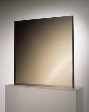 Square gray dapple to black by De Wain Valentine contemporary artwork