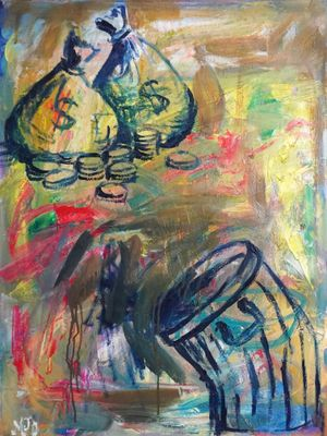 Manilascape 6 by Manuel Ocampo contemporary artwork painting, works on paper