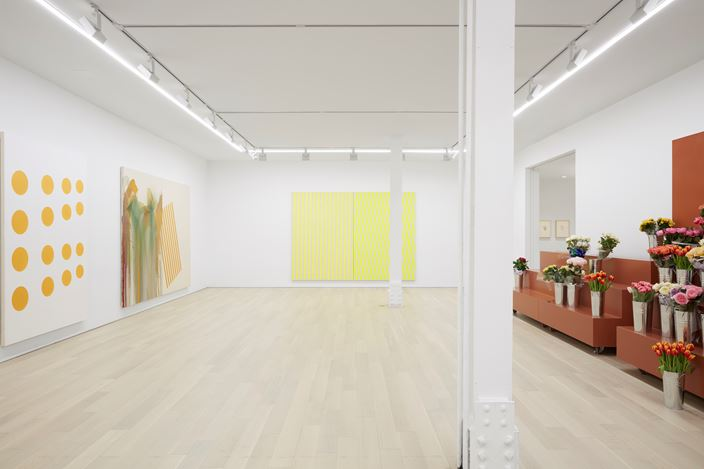 John M Armleder, 2017, Exhibition view at Almine Rech Gallery, New York. Courtesy of the Artist and Almine Rech Gallery © John M Armleder. Photo: Matt Kroening.