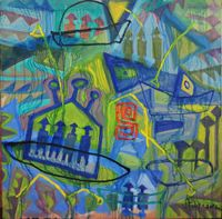 Back to East by Le Trieu Dien contemporary artwork painting