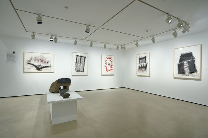 Exhibition view: Group exhibition, Matching of Arts and Walls: Group Exhibition of the 4th Anniversary of Whitestone Gallery, Taipei (27 March–16 May 2021). Courtesy Whitestone Gallery, Taipei.