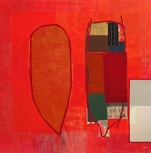Red Alert! My Body My Space II by Pinaree Sanpitak contemporary artwork