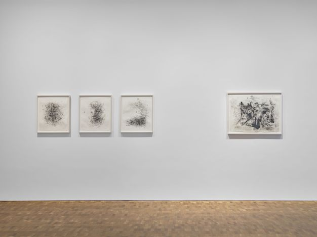 Exhibition view: Jack Whitten, Hauser & Wirth, Hong Kong (30 March–31 July 2021). Courtesy the Jack Whitten Estate and Hauser & Wirth. Photo: Kitmin Lee.