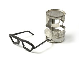 Bean Can with Spectacles by Bill Woodrow contemporary artwork