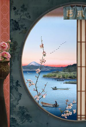 Picture Window (after Hiroshige) by Emily Allchurch contemporary artwork photography