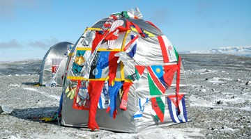 Contemporary art exhibition, Lucy + Jorge Orta, Antarctica at Jane Lombard Gallery, New York, USA