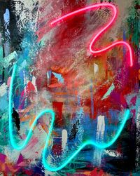 Beauty in Chaos 3 by Sean Crim contemporary artwork painting, sculpture