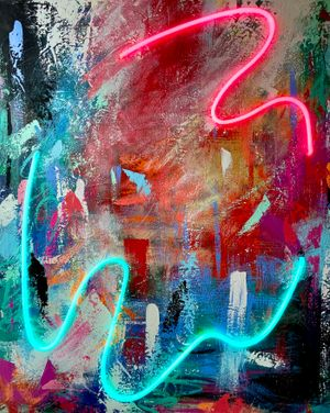 Beauty in Chaos 3 by Sean Crim contemporary artwork