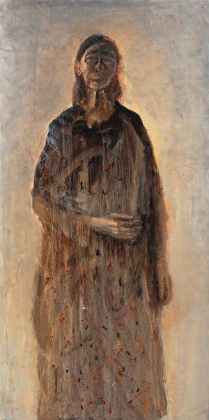 Self-Portrait in a Narrow Mirror by Celia Paul contemporary artwork